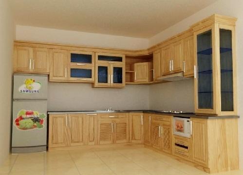 Mẫu tủ bếp gỗ sồi nga cao cấp hàng đầu trên thị trường