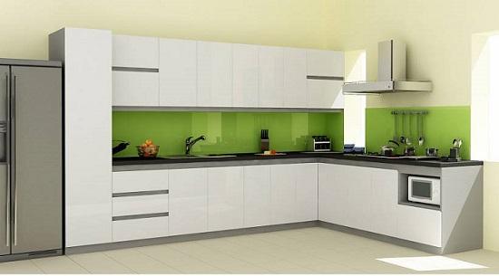 Tủ bếp lõi xanh sơn trắng có bền không?
