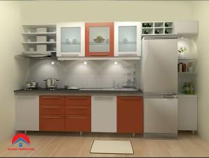 Tủ bếp thùng Picomat Cánh Acrylic