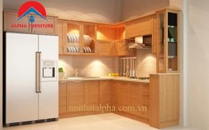 Tủ Bếp Gỗ Sồi Nga MS11