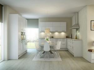 tủ bếp laminate alpha 021