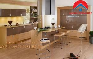 Tủ Bếp Gỗ Veneer MS09