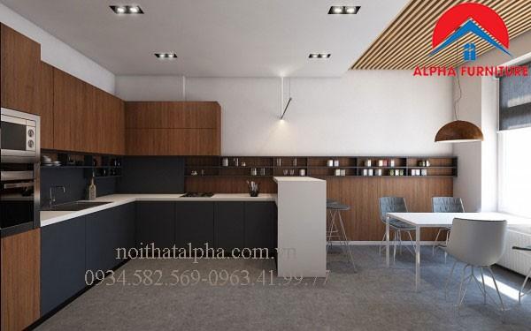 Tủ Bếp Gỗ Veneer MS13