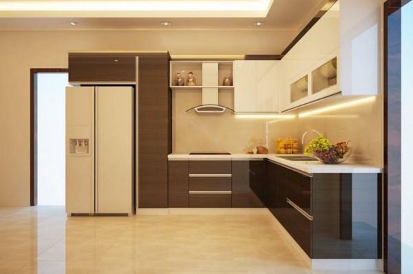 Tủ Bếp Gỗ Veneer MS12