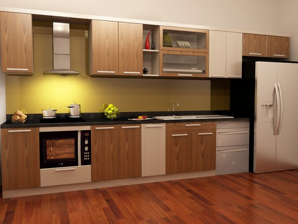 tủ bếp laminate alpha HD01