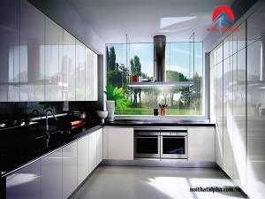 Tủ bếp Aclylic 028- Nhà chị Trinh- Discovery Cầu Giấy