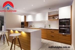 Tủ bếp Aclylic 026- nhà Cô Mai-Đông Anh