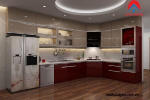 Tủ bếp Acrylic- nhà Anh Thành Hưng Yên