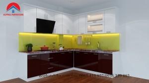 Tủ bếp Thùng picomat cánh Acrylic 18
