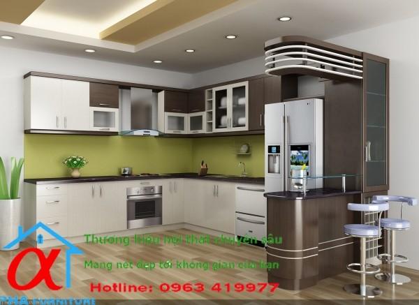Tủ bếp Aclylic 032