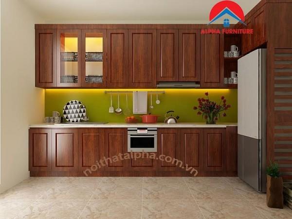 Tủ Bếp Gỗ Xoan Đào MS08
