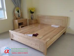 Giường gỗ sồi MS7