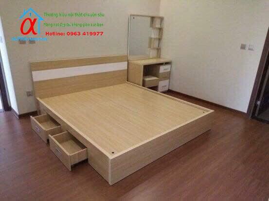 Giường Melamin 002