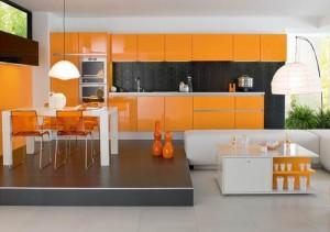 Tủ bếp Aclylic bóng gương AP014