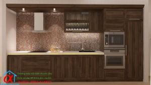 Tủ Bếp Gỗ óc chó 003