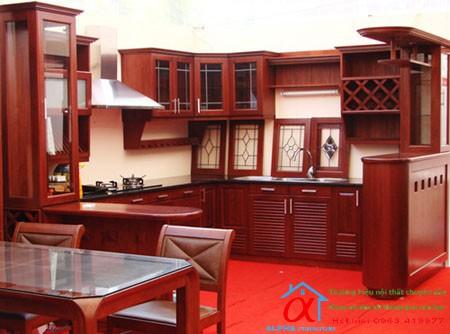 Tủ Bếp Gỗ giáng hương 002
