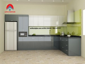 Tủ bếp nhựa acrylic: Tôn nét đẹp thẩm mỹ cho gian bếp hiện đại