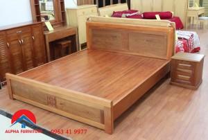 giường gỗ xoan đào tự nhiên