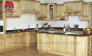 Tủ Bếp Gỗ Sồi Nga MS13
