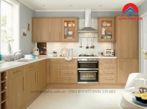 Tủ Bếp Gỗ Sồi Mỹ MS06