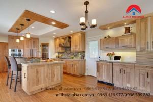 Tủ Bếp Gỗ Sồi Mỹ MS01