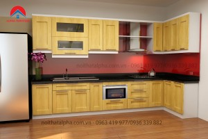 Tủ Bếp Gỗ Sồi Nga MS12