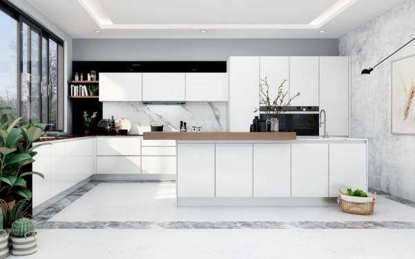 Điểm khác biệt của tủ bếp laminate và acrylic