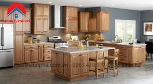 Tủ Bếp Gỗ Sồi Nga MS09