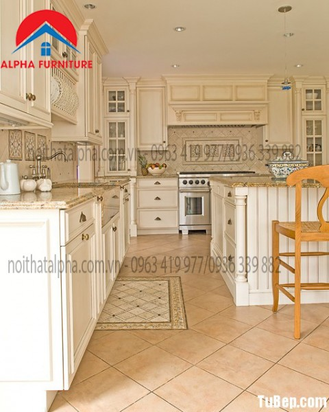 Tủ Bếp Gố Sồi Nga MS10