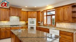 Tủ Bếp Gỗ Sồi Mỹ MS09