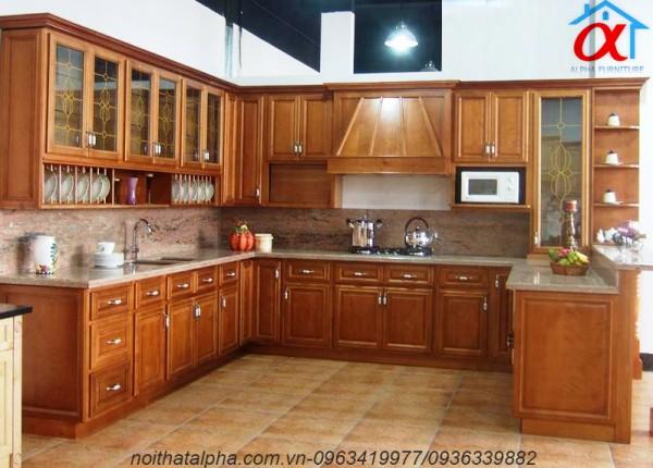 Tủ Bếp Gỗ Sồi Mỹ SM22