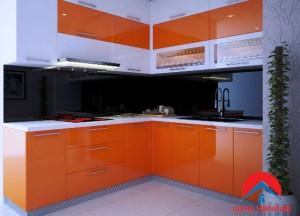 tủ bếp acrylic Mã V313- Vinhome Hàm nghi
