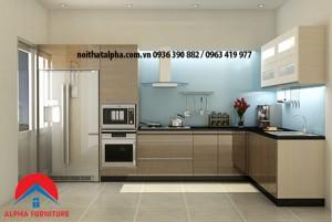 Tủ Bếp Gỗ Veneer MS01
