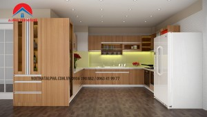 Tủ Bếp Gỗ Veneer MS05