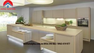 tủ bếp laminate alpha 023