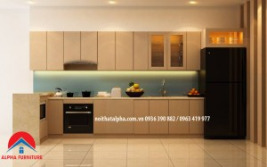 tủ bếp laminate alpha 026