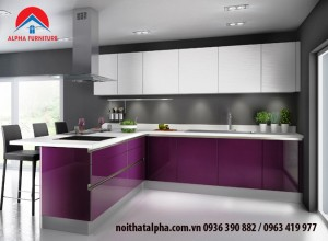 Tủ bếp Aclylic 022