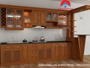 Tủ Bếp Gỗ Xoan Đào MS03