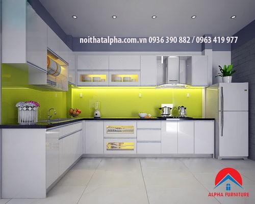 Tủ bếp Aclylic - 021- Thanh Hà Hà đông