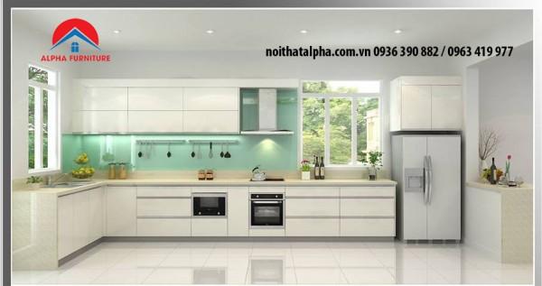 tủ bếp laminate alpha 022