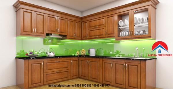 Tủ Bếp Gỗ Xoan Đào MS05